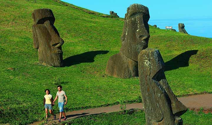 Rano Raraku Vulkan Osterinsel Chile