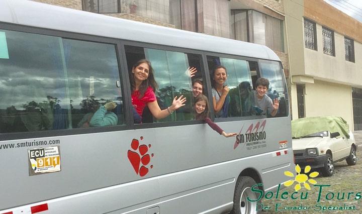 Team von Solecu Tours auf dem Ausflug nach Pimampiro
