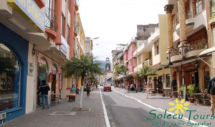 Innenstadt von Baños in Ecuador