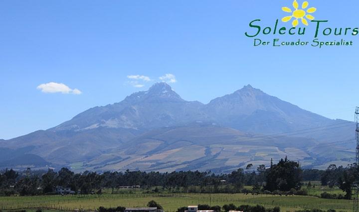 Die Vulkane Illinizas Nord und Süd