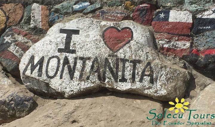 Stein in Montañita, Ecuador