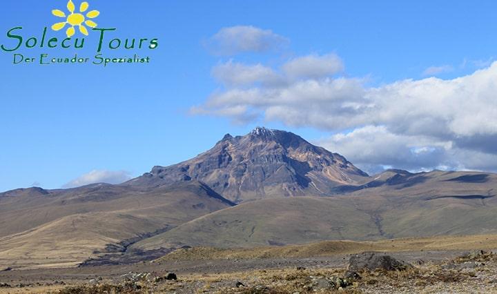 Der Vulkan Sincholagua , Ecuador