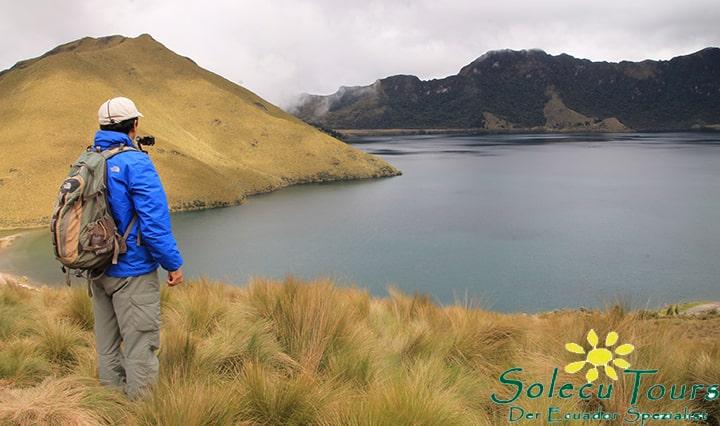 Wandern bei den Lagunen von Mojanda