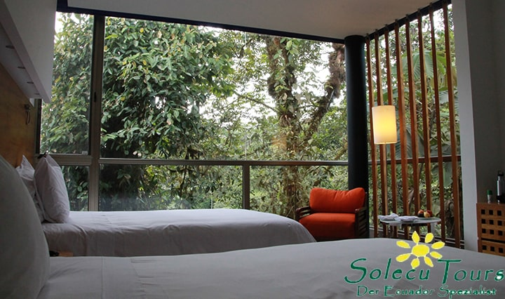 Zimmer der Mashpi Lodge in Ecuador