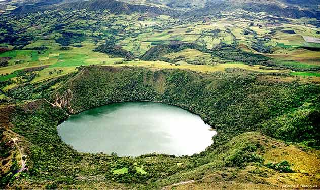Lagune Guatavita in Kolumbien