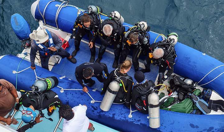 Tauchgang auf Tauchreisen auf der Galapagos Yacht Aqua