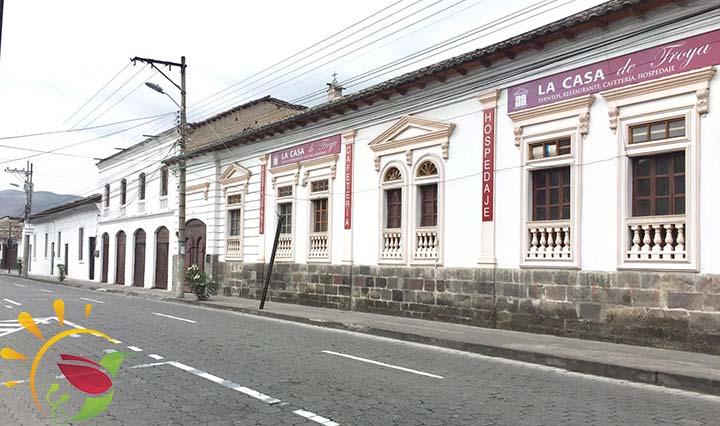 weiße Innenstadt von Ibarra