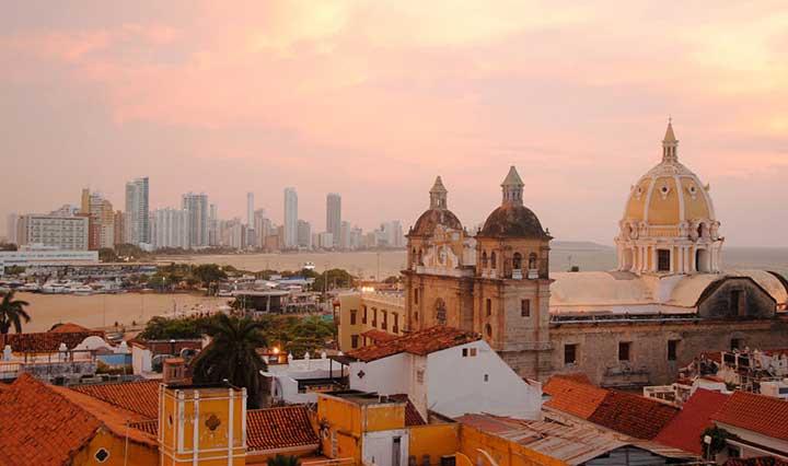 Cartagena Aussicht bei Sonnenaufgang