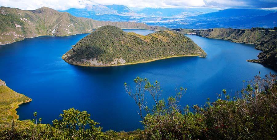 Lagune Cuicocha bei Cotacachi