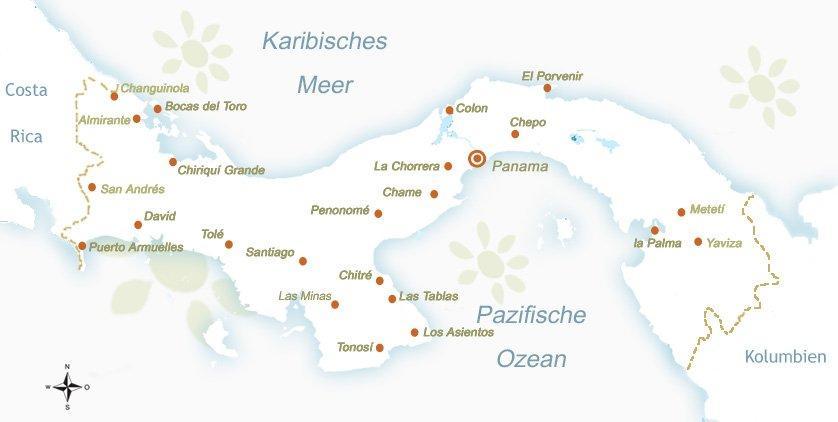 Panama Landkarte Solecu Tours Panama Reiseveranstalter