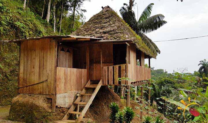 Hütte beim Mirador Indichuris nahe Puyo