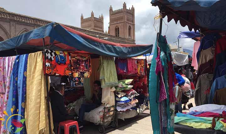 Markt an der Plaza Roja
