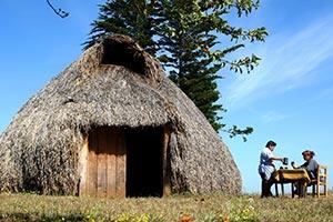 Mapuche Haus in Araucania Chile
