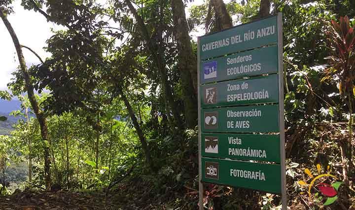 Schild Cavernas del Rio Anzu