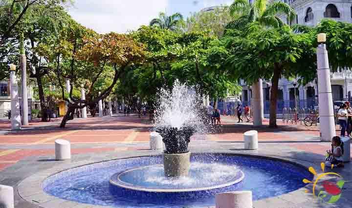 Malecon-Brunnen in Guayaquil