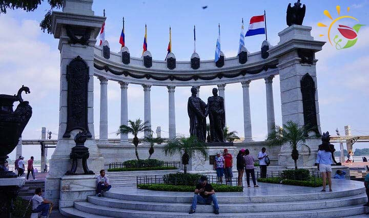Monument Bolivar Martin in Guayaquil