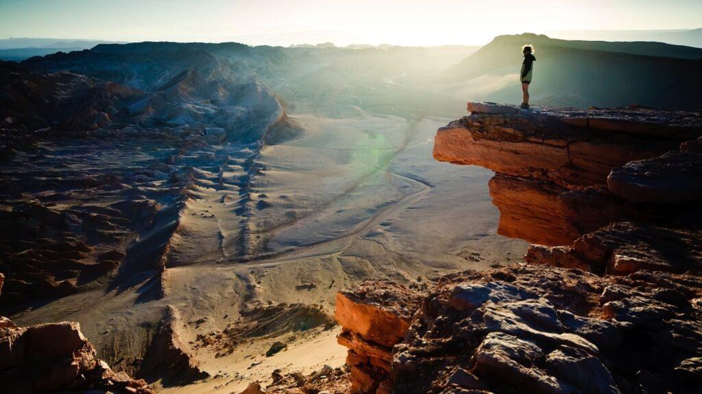 Blick über Wüste Chile