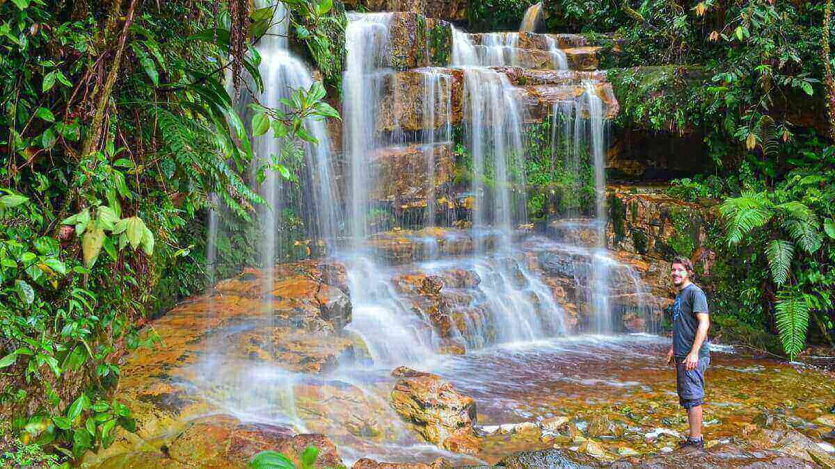 Wasserfall Regenwald Ecuador