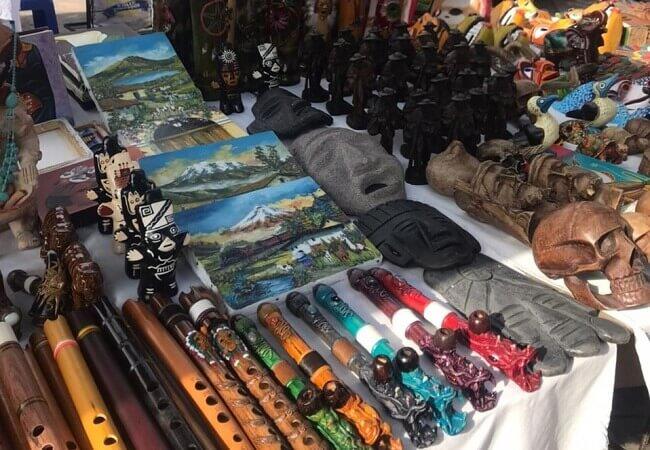 Auslage Marktstand Otavalo