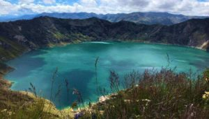 Quilotoa Lagune vom Aussichtspunkt