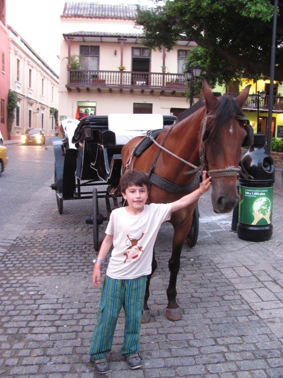 Mit der Kutsche durch Cartagenas Altstadt, Kolumbien