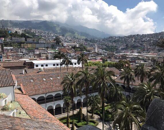 Blick über die Altstadt von Quito