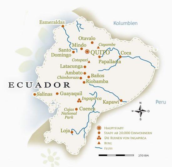 ecuador karte Ecuador Landkarte * Ecuador Reise * Individualreisen Galapagos
