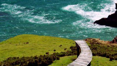 Steg zum Meer auf der Insel Chiloé