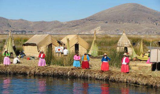 Titcacasee Peru Inseln