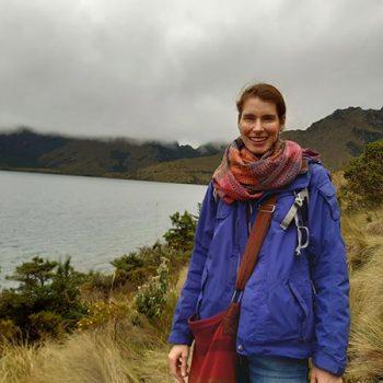 Dorit Hansen von Solecu Tours an den Lagunas de Mojanda